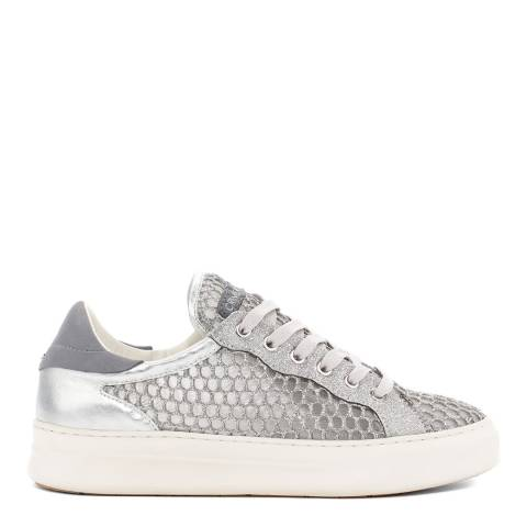 Crime London Silver Mesh Low Top Sneakers