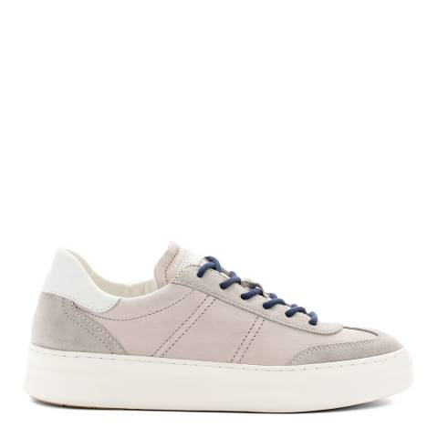 Crime London Beige Low Top Essential Leather Sneaker