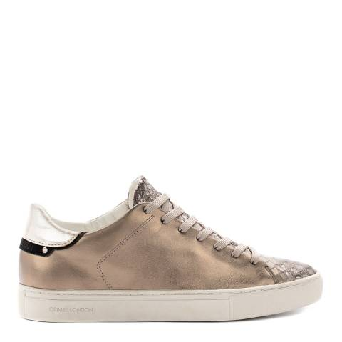 Crime London Bronze Low Top Leather Sneakers