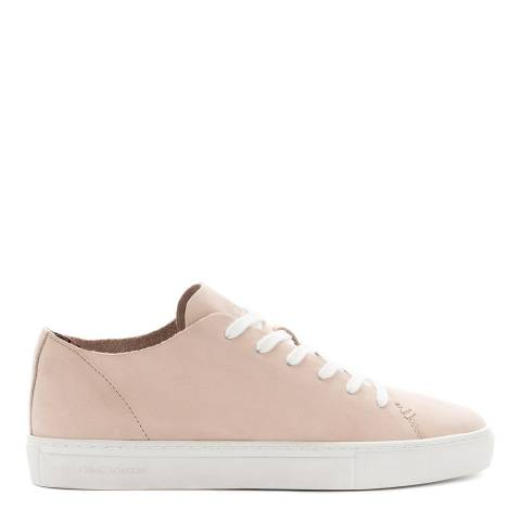 Crime London Pink Low Top Raw Leather Sneakers
