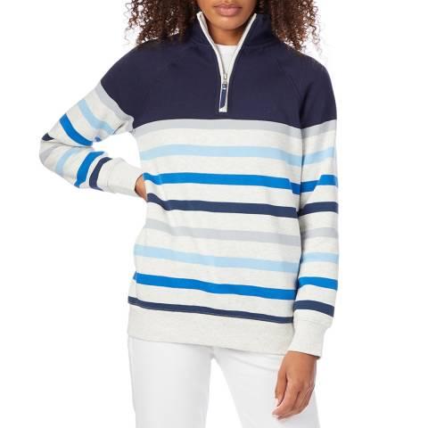 Crew Clothing Blue Cotton Half Zip Sweatshirt