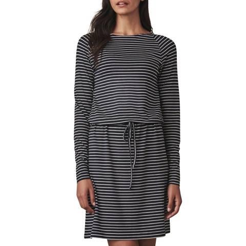 Crew Clothing Navy Striped Jersey Dress