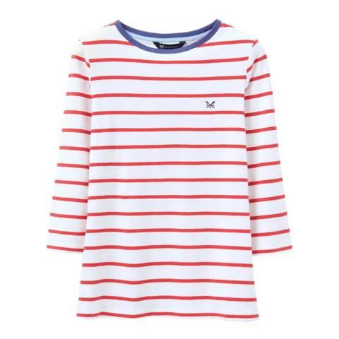 Crew Clothing Red Breton Stripe Cotton Top
