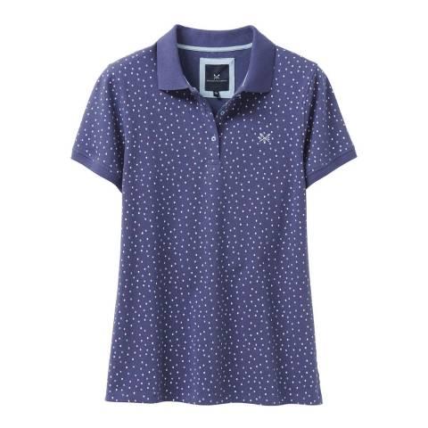 Crew Clothing Blue Spot Cotton Polo Shirt