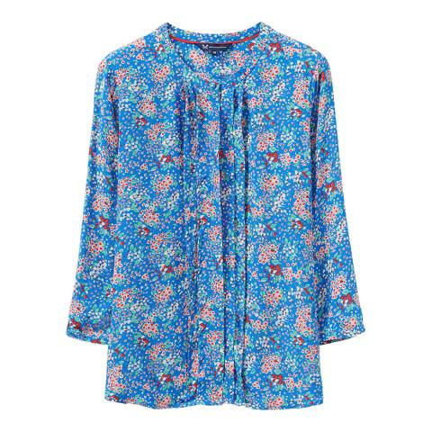 Crew Clothing Blue Floral Blouse