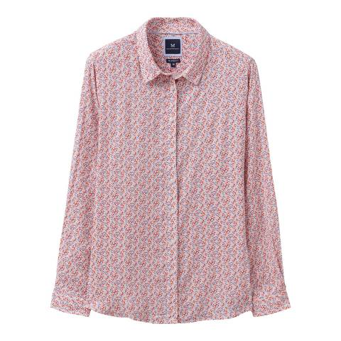 Crew Clothing Pink Floral Shirt