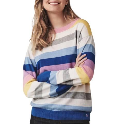 Crew Clothing Multi Stripe Cotton Blend Jumper