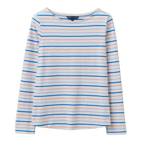 Crew Clothing Grey Striped Cotton Top