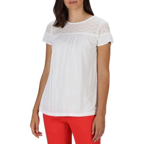 Regatta White Broderie T-Shirt