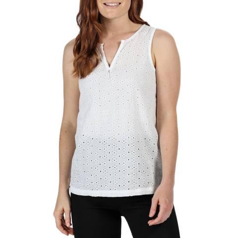 Regatta White Cotton V-Neck Shirt