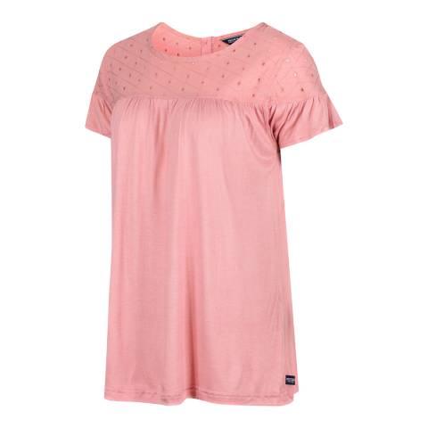 Regatta Pink Broderie T-Shirt
