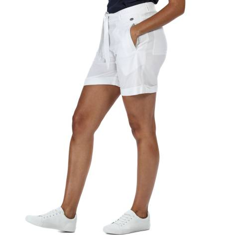 Regatta White Linen Blend Shorts