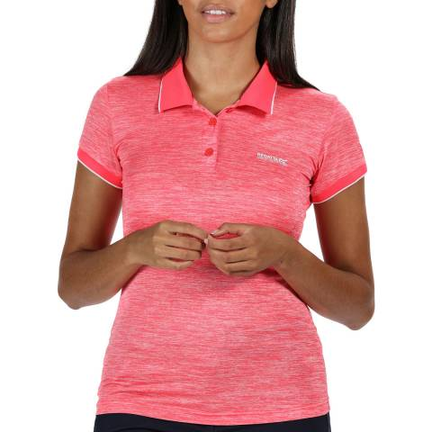 Regatta Neon Pink Logo Polo Shirt