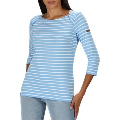 Regatta Blue Breton Stripe Cotton Top