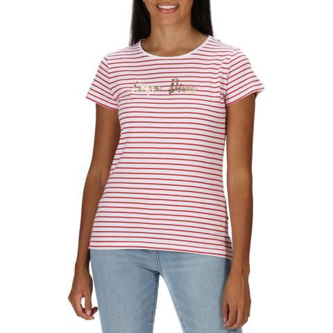 Regatta Red Stripe Cotton T-Shirt