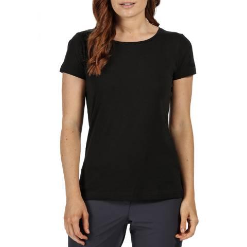 Regatta Black Cotton T-Shirt