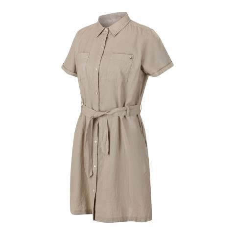 Regatta Beige Cotton Utility Shirtdress