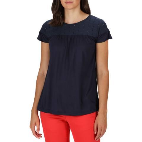 Regatta Navy Short Sleeved Broderie T-Shirt