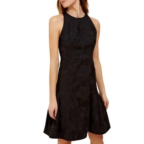 Halston Heritage Black Sleeveless Jacquard Mini Dress