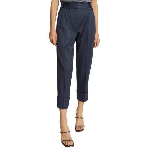 Reiss Blue Mae Wool Blend Trousers
