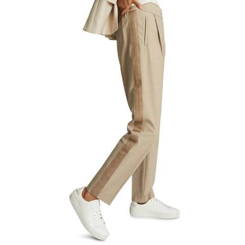 Reiss Cream Jay Pull On Stripe Trousers
