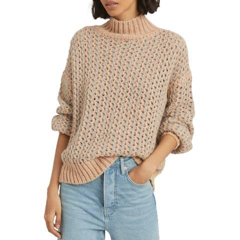 Reiss Multi Hazel Oversized Wool Blend Jumper