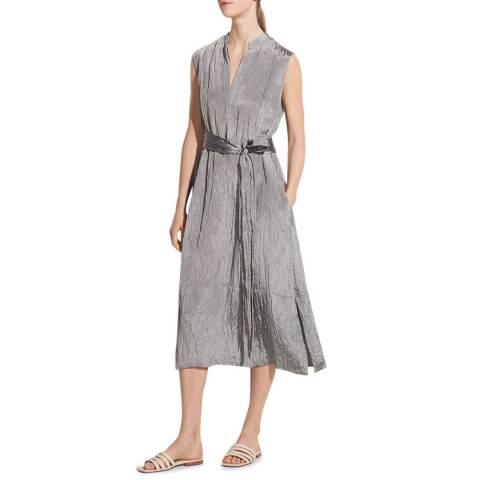 Vince Grey Textured Dress