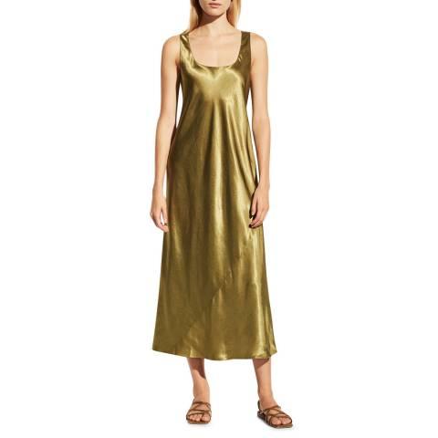 Vince Green Square Neck Dress