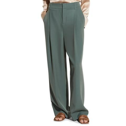 Vince Sea Blue Wide Leg Trouser