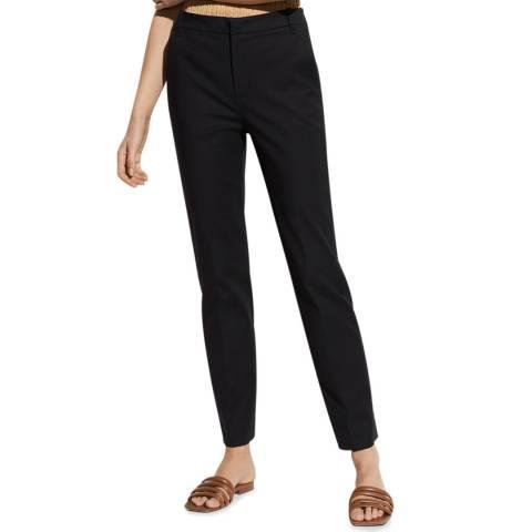 Vince Black Slim Fit Cotton Blend Trouser