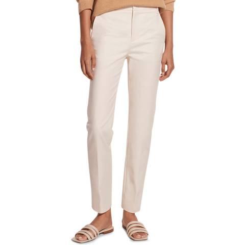 Vince Off White Slim Fit Cotton Blend Trouser