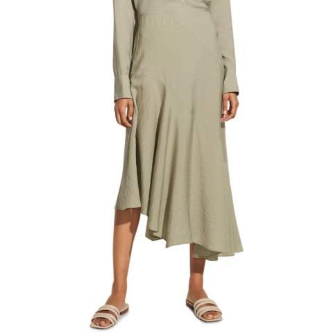 Vince Light Khaki Button Tiered Skirt