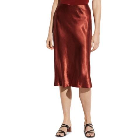 Vince Burnt Orange Slip Skirt