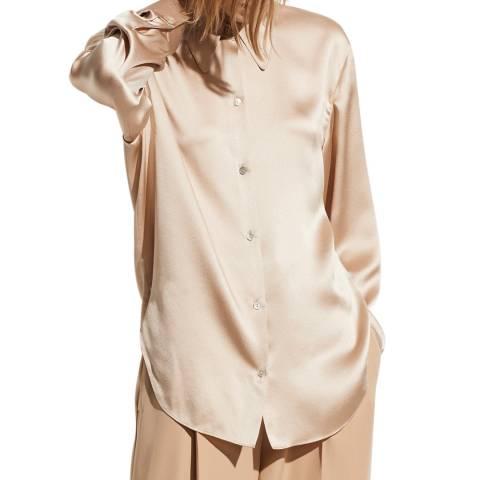 Vince Sand Collar Silk Blouse