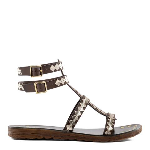 Replay BROWN FLAT SOLE SANDALS