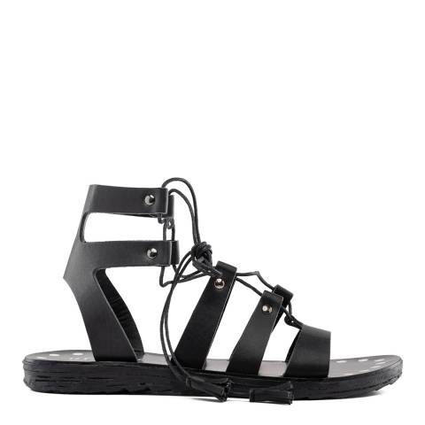 Replay BLACK FLAT SOLE SANDALS