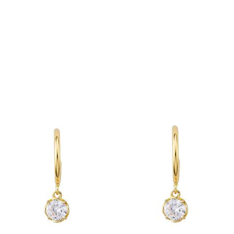 Kate Spade Gold That Sparkle Mini Round Huggie Earrings