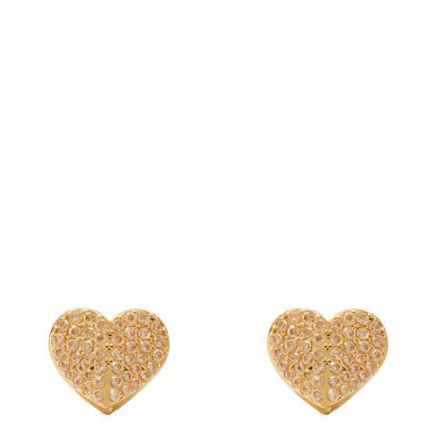 Kate Spade Gold Heart to Heart Stud Earrings