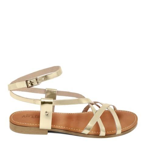 Via Fratina Gold Multi Strap Sandal