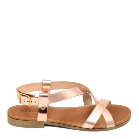 Via Fratina Rose Gold Crossover Sandal