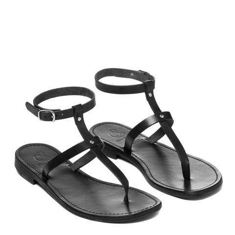 Oliver Sweeney All Black Pareti Luxe Leather Gladiator Sandals