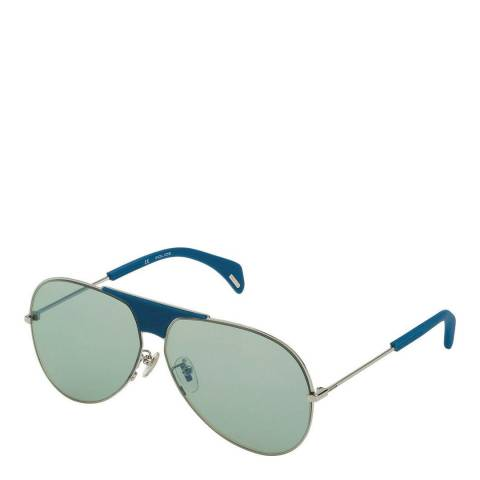 Police Shiny Palladium Sparkle Aviator Sunglasses