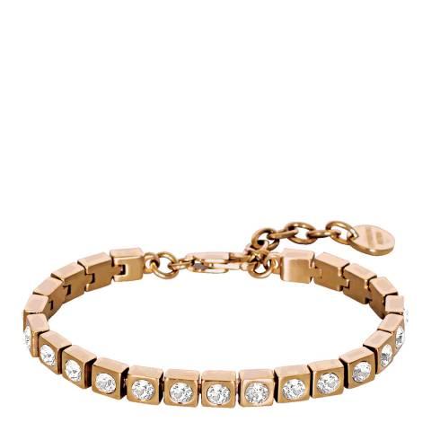 Dyrberg Kern Rose Gold Bracelet with Swarovski Crystals