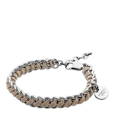 Dyrberg Kern Silver/Sand Chain Bracelet