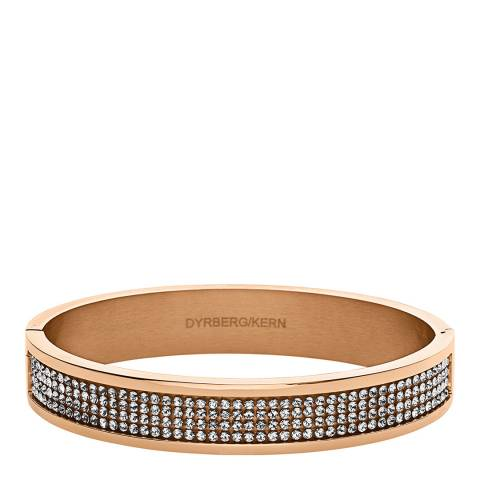 Dyrberg Kern Rose Gold Bracelet with Swarovski Crystals