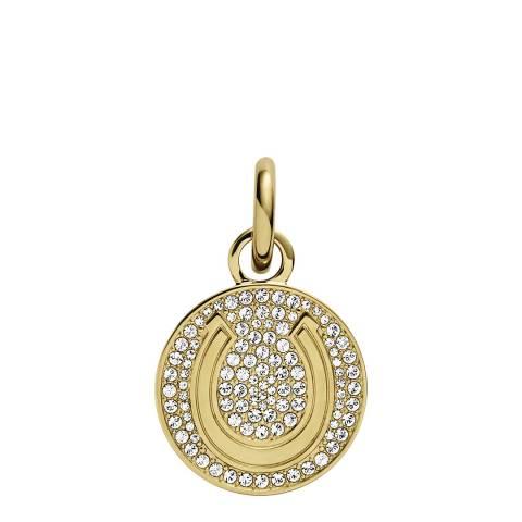Dyrberg Kern Gold Necklace Pendant with Swarovski Crystals