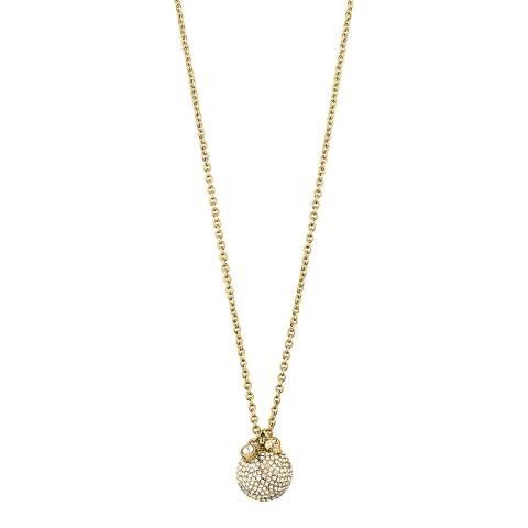 Dyrberg Kern Gold Encrusted Pendant Necklace with Swarovski Crystals