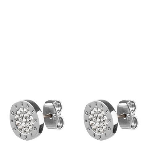 Dyrberg Kern Silver Stud Earrings with Swarovski Crystals