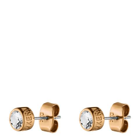 Dyrberg Kern Rose Gold Stud Earrings with Swarovski Crystals