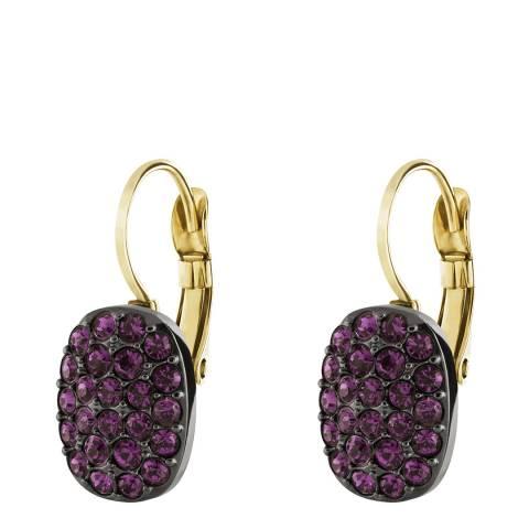 Dyrberg Kern Dark Purple/Gold Huggie Earrings